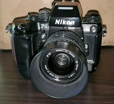 Nikon F4s 35mm SLR Film Camera with  sigma 28-70mm 1:2.8-4 lens with hood.