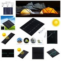 18/12/6/5/4/3V Mini Cell DIY Solar Power Panel Module DC Output Battery Charger