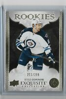 2016-17 Upper deck ICE Exquisite Rookie Kyle Connor 211/299 Winnipeg Jets