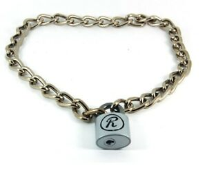 "Sid Vicious ""R"" Padlock & Chain Punk Necklace"