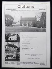 THE MANOR HOUSE MANNINGFORD BOHUNE VALE OF PEWSEY WILTSHIRE MAGAZINE ADVERT 1977