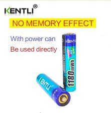 KENTLI 2pcs no memory effect 1.5v 1180mWh AAA lithium li-ion rechargeable batter