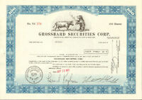 Grossbard Securities > New York stock certificate > Wall Street Bull & Bear gift