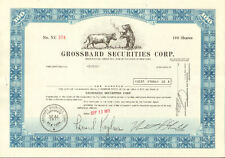 Grossbard Securities > New York stock certificate > Wall Street Bull & Bear gift