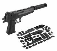 43 PC BUILDING BLOCK LEGO TYPE GUN WITH SILENCER PISTOL DESERT EAGLE 3D PUZZLE D