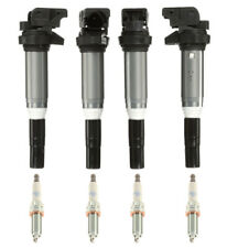 OEM Ignition Service Kit Set of 4 Ignition Coils with Spark Plugs For BMW F30