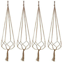 4pcs Plant Hanger Macrame Hanging Planter Basket Rope Flower Pot Holder Decor UK