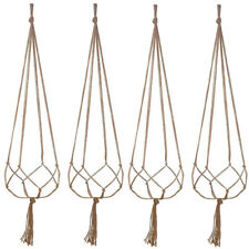 4pcs Plant Hanger Macrame Hanging Planter Basket Rope Flower Pot Holder Decor UK