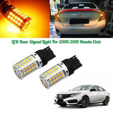 No Hyper Flash Amber 7440 T20 LED For 06-18 Honda Civic Rear Turn Signal Lights