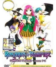 DVD Rosario + Vampire Complete TV1-26 End Series Sea1+2 English Sub Free Ship