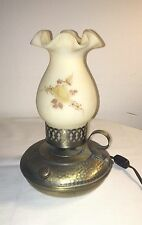 VINTAGE PRETTY LITTLE FENTON TABLE LAMP HAND PAINTED BY DEBRA C HILL WORKING