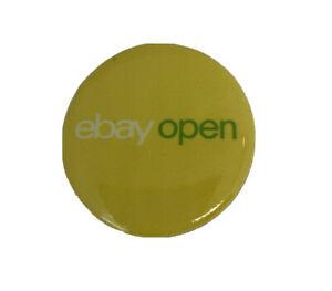 "Collectible ebay Swag Pin Pinback 1 1/4"" ebay open Yellow Green White"
