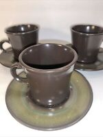 3 CUP AND SAUCER SETS FRANCISCAN ''MADEIRA''  USA