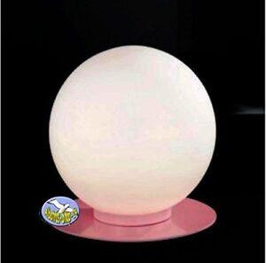 Tischlampe Tischleuchte Kugelleuchte PASTELL Weiß-Pink