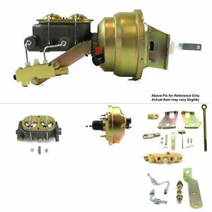 "67-72 Chevy Truck Firewall Mount Power 8"" Single Brake Booster Kit Disc/Drum LS"
