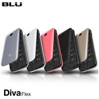 BLU Diva Flex 1.8'' 2G Cell Phone Flip VGA Unlocked Dual SIM New