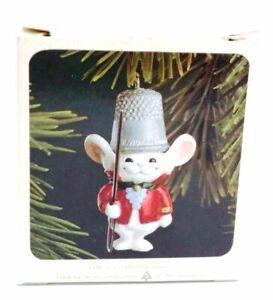 1982 HALLMARK Christmas THIMBLE MOUSE Ornament in Original Box - MIB