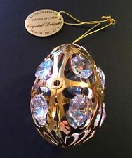 24K gold plated austrian crystal Egg ,Crystal Delight collectible