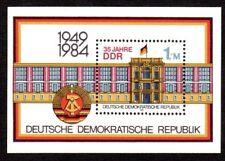 East Germany Ddr sheetlet Michel block 77; Scott 2431; Mnh post office fresh [cx
