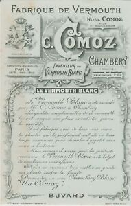 ANCIEN BUVARD PUBLICITAIRE / fabrique de vermouth Comoz