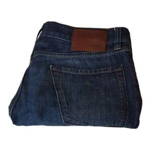 Hugo Boss Mens Jeans Waist W34 L32 Dark Blue 34R Regular Fit Size 34x32