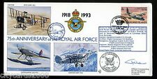 1993 75th Anniv of RAF  Cover No 57 Sqd  signed  Wing Co A M Morris  O/C