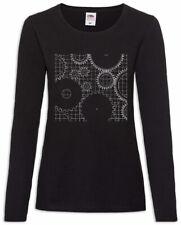 Mechanism II Women Long Sleeve T-Shirt Technology Engineer Mechanic Clockwork