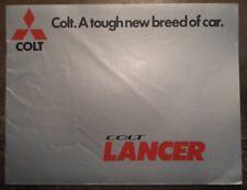 MITSUBISHI COLT LANCER orig 1976 1977 UK Mkt Sales Brochure - 1200 1400 1600