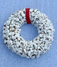 Vintage RAW COTTON Pods Wreath Picking Cotton Balls UNIQUE ONE OF A KIND ❤️sj8j