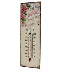 style ancien thermomètre plaque d entrèe salon terrasse cuisine mural 25x8cm