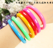 4 x Cute bracelet look pens Party loot bag Kids novelty stationery Rainbow Fun