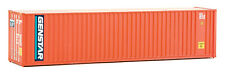 Walthers HO Scale 40' Hi-Cube Corrugated Shipping Container Flat Roof Genstar