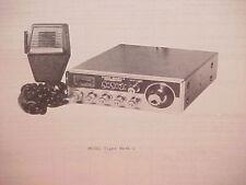 1977 PEARCE-SIMPSON CB RADIO SERVICE SHOP MANUAL MODEL TIGER MARK 2