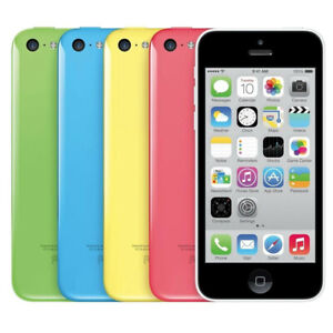 UNLOCKED Apple iPhone 5C 16GB / 32GB Smart Phone T-Mobile AT&T Metro Cricket h2O