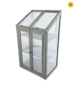 Small Grey Wooden Greenhouse - New - 🌲 Free Delivery 🌲- Damaged Box - See Pics