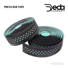 Deda Elementi PRESA Dual Density Perforated Handlebar Tape : BLACK/CELESTE