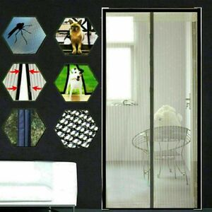 Hands-Free Magnetic Screen Door Mesh Net Mosquito Fly Insect Bug Curtain 4-SIZE