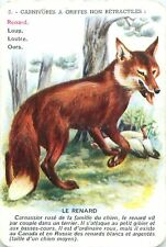 Renard Roux Red Fox Rotfuchs PLAYING CARD CARTE A JOUER OLD ANCIEN