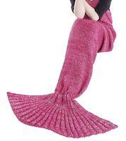 Mermaid Tail Blanket for Teens, Kids - Rose