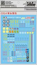 Dalin C014 MILITARY BASE CAUTION WARNING Waterslide Decal PG MG HG Gundam Gunpla