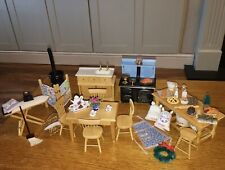 Dolls house Kitchen Furniture Table Chairs Food Accessories Job Lot 12th scale
