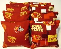 IOWA STATE CYCLONES CORNHOLE BEAN BAGS BAGGO TAILGATE TOSS SET OF 8
