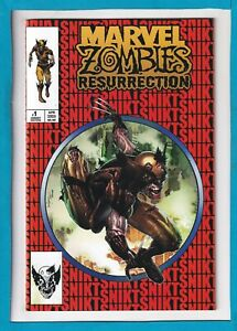 MARVEL ZOMBIES RESURRECTION #1_NM_UNKNOWN COMICS SPIDER-MAN #300 HOMAGE VARIANT!