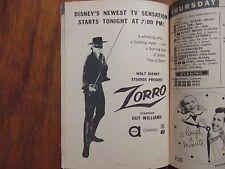 Oct. 5-1957 TV Guide(GUY  WILLIAMS/DEBUT OF  ZORRO/JACKIE  LOUGHERY/JOHN  LUPTON