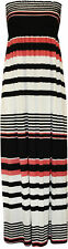 Womens Sheering Boobtube Bandeau Maxi Dress Long Jersey Strapless Maxi 8-22