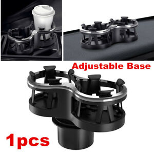 1x Car Seat Dual-Cup Drink Holder Universal Auto Truck Mount Bag Storage Black