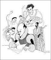 Al Hirschfeld's SHAKESPEARE & CO Hand Signed Limited Edition Lithograph