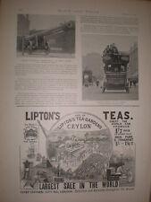 Printed photo electric motor bus Gray's Inn Road London 1896 Ref S
