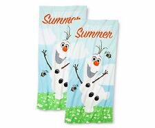 Disney Frozen Celebrate Summer Olaf Beach Towels 2-pack Fast Ship NWT Cotton