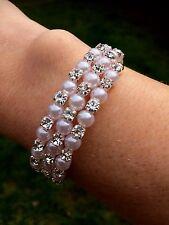 Perle et strass mariage bracelet argent strass et perles bridal jewelry